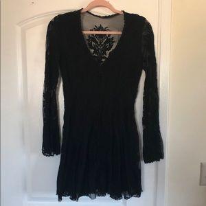 Free people lace detail dress